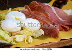 typical #Italian #appetizer with #ham and #mozzarella #cheese #microstockita