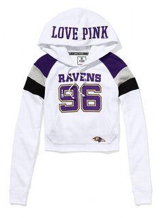 Baltimore Ravens Shrunken Pullover Hoodie - Victoria's Secret PINK® - Victoria's Secret