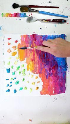 Abstract rainbow acrylic
