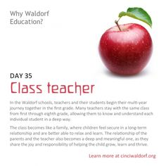 """Class teacher"" Things We Love About Waldorf Education"