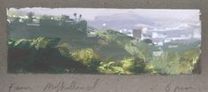 Nathan Fowkes, Land Sketch: View from Mulholland drive....