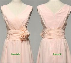 Hey, I found this really awesome Etsy listing at https://www.etsy.com/listing/163671483/light-pink-chiffon-bridesmaid-dress-knee