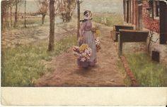 #Antique #Postcard Art Institute of Chicago  by @Colleen Cornelius #postcardsintheattic