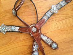 Blue Lace Swarovski Crystal Tack Set by RodeoMoon on Etsy