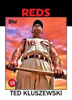 Old Baseball Cards, Baseball Art, Reds Baseball, Baseball Photos, Sports Art, Cincinnati Reds, Red S, Milwaukee, Mlb