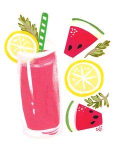 Sweet sip: watermelon lemonade