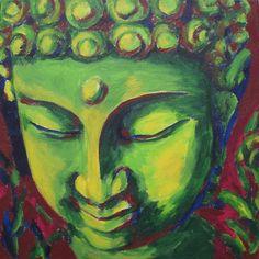 The Green Buddha - Environmentalism and Buddhism Buddha Face, Buddha Zen, Gautama Buddha, Buddha Quote, Buddha Kunst, Buddha Painting, Arte Pop, Buddhist Art, Abstract Oil