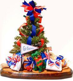 university of florida gator decorated trucks | florida gators Tabletop Christmas Tree view 1