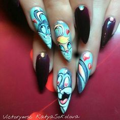 Nails with rabbits