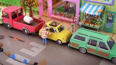 As a sound design project I came across this animation called Parallel Parking by Agile Films directed by Yum Yum. Sorry David Kamp I deleted your stuff. Motion Design, Parallel Parking, Scale Art, 3d Texture, Cool Animations, Vinyl Toys, Stop Motion, Animation Film, Graphic Illustration