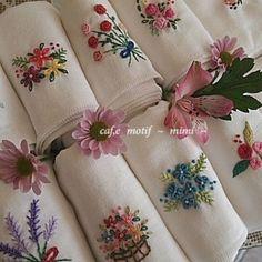 #Embroidery#stitch#needlework#프랑스자수#자수#일산프랑스자수#손수건~ 행주~~