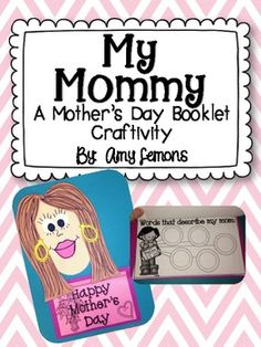 My Mommy {A Mother's Day Booklet Craftivity!} gift handmad, handmad gift, father day, olympic crafts, diy gifts, handmade gifts, hand made, mothers day craftivity, paper plates