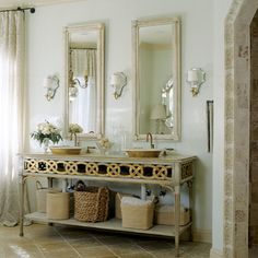 Love the vanity and sconces