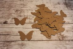 Butterfly Diecut - Kraft Paper - Pack of 25 by papercraftsbyjen on Etsy https://www.etsy.com/listing/227743639/butterfly-diecut-kraft-paper-pack-of-25