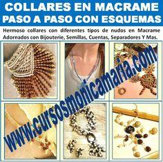 collares macrame bijouterie semillas flores cuentas separadores curso online