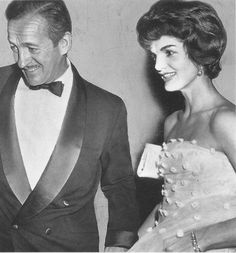 Actor David Niven and Jackie Kennedy at New York's El Morocco in 1958