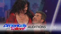 Miranda Cunha: Wild Dancer Kisses Simon Cowell on the Lips - America's G...