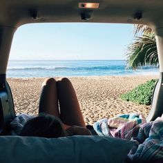 Volkswagon Van :: VDUB :: VW bus :: Volkswagen Camper :: The perfect vintage travel companion for the beach, surf, camping + summer road trips :: Free your Wild :: See more van travel style & inspiration /untamedmama/ The Beach, Beach Bum, Beach Relax, Girl Beach, Adventure Awaits, Adventure Travel, Vw Camping, Roadtrip, Grand Tour
