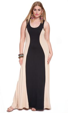 Colorblock Maxi Dress | ELOQUII.com