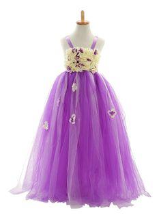 Lilac Organza Flower Girl Dresses Am193