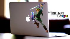 "Color ""Link"" Decal    Featuring ""Link from the Legend of Zelda""  Only the best Game EVER!!!!!  =)   This die cut vinyl decal is for the Macbook Pro, Macbook Air or Macbook with Retina display. Actually you can put it on anything if you want This die cut vinyl decal will give your laptop a touch of individuality and make your device unique, while still showing off the lines and finish of your Macbook.     This vinyl decal is for the Macbook Pro, Macbook Air or Macbook with Retina display…"
