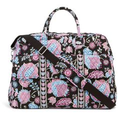 Vera Bradley Grand Traveler Bag in Alpine Floral ($120) ❤ liked on Polyvore featuring bags, luggage, alpine floral, travel and travel bags