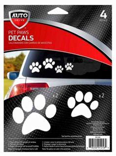 Paws Paw Print Car Auto Stickers + Free ASPCA Window Sticker - Made in the USA #Autodrive