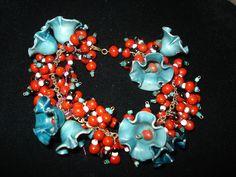 Vintage Antique Miriam Haskell Celluloid Flower Bead Bracelet | eBay