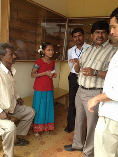 This young girl came to the primary care center to get her vision checked. She needed glasses. Her prescription was -3.00, which is pretty poor. LVPEI provided her with eyeglasses free of charge. — in India.
