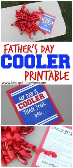 Father's Day Cooler Printable #freeprintable #fathersday #gifting