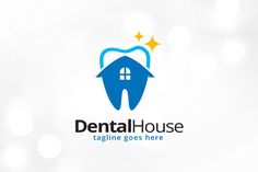 Dental House Logo Template by @Graphicsauthor
