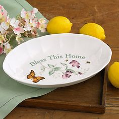 Butterfly Meadow® Bless This Home Tray by Lenox sku:792493