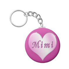 Grand Parent Mimi Gifts | Mimi Gifts Keychain with Pink Heart & Mimi