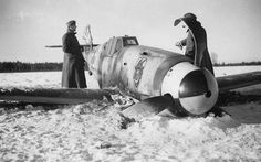 Bf 109 shot down in Russia