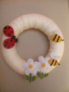 Children room wreath with ladybugs and bees and by Breelovelyhouse, $36.00