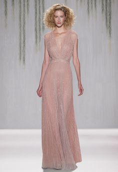 Jenny Packham. I don't understand my newfound obsession with colored wedding dresses, but I'm okay with it.