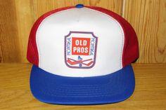 Montreal OLD PROS Original Vintage 80s Hockey Red Mesh Hat @ HatsForward