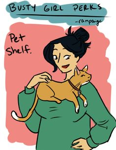 Busty Girl Perks - Scarf cat. Not sure this actually IS a perk, but Arwen sure seems to think so