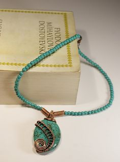 Free Shipping turquoise necklace--layer necklace turquoise-copper jewelry - nice