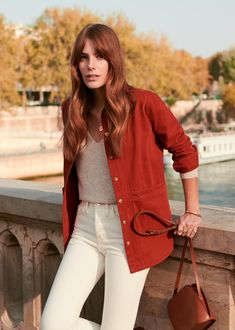 Sezane Will Jacket Urban Fashion, Girl Fashion, Fashion Outfits, 50 Fashion, Style Casual, My Style, Style Parisienne, French Girl Style, Paris Mode