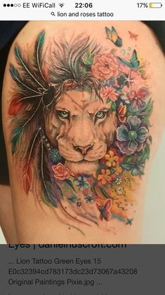 Lion with a mane of flowers Original painting by Lion with a mane of flowers Original painting by Pixie Cold Related Post Kimee tattoo Foot ankle tattoo . 40 Beautiful Tattoos for Girls – Latest Hottest Ta. Crazy Tattoo Ideas – Part 01 Paar Tattoos, Tatuajes Tattoos, Leo Tattoos, Couple Tattoos, Future Tattoos, Animal Tattoos, Body Art Tattoos, Sleeve Tattoos, Tattoos For Guys