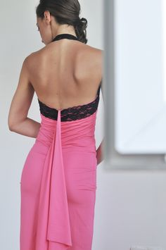 Pink and black tango dress with lace #ILLANGO #womensclothing #tangodress