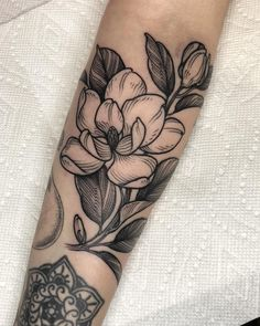 shannon elliot magnolia tattoo - Tattoos For Women's Shoulder Tattoos, Wrist Tattoos, Body Art Tattoos, Sleeve Tattoos, Tattos, Pretty Tattoos, Unique Tattoos, Beautiful Tattoos, Crazy Tattoos