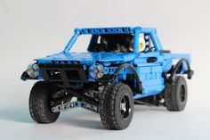 Lego Technic RC Trophy Truck Lego Technic Truck, Lego Toys, Lego Car, Weird Cars, Crazy Cars, Trophy Truck, Lego Construction, Lego Mecha, Cool Lego Creations