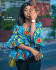 Ankara styles 729372102138267107 - 2020 Most Incredible and Stylish Ankara Styles for Beautiful African trendind And stunning styles to check out Source by correctkid Short African Dresses, African Blouses, African Tops, African Print Dresses, African Fashion Ankara, Latest African Fashion Dresses, African Print Fashion, Traditional African Clothing, Ankara Tops