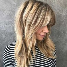 Want to shake your hair without a solitary stick, get some straight-cut or layered bangs. Here are layered haircuts with bangs in 20 pics! Thick Blonde Hair, Perfect Blonde Hair, Long Hair With Bangs, Blond Bangs, Layered Haircuts With Bangs, Side Bangs Hairstyles, Hairstyles With Bangs, Blonde Hairstyles, Blonde Bob Haircut