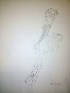 Bailarina 2, copiada al reves