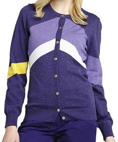 Another great find on #zulily! Twilight & Purple Emmy Cardigan by GGblue #zulilyfinds