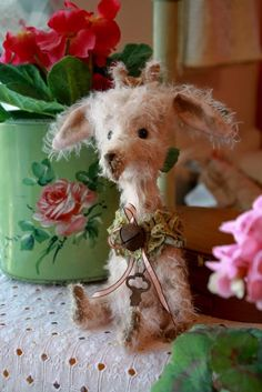 Mohair Giraffe - just toooo adorable