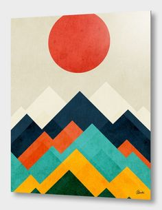 """""""Rainbow Hill"""", Numbered Edition Aluminum Print by Budi Kwan - From $69.00 - Curioos"""